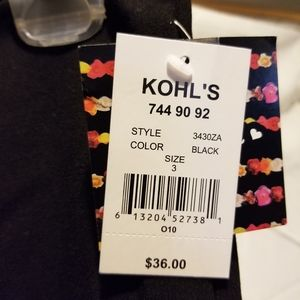 kohls Skirts - Black Kohl's mid length skirt Sz.3 Brand New!